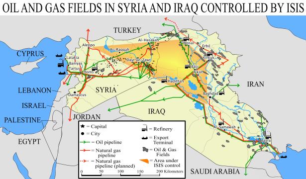 Syria's - Irak's oil-gas routes