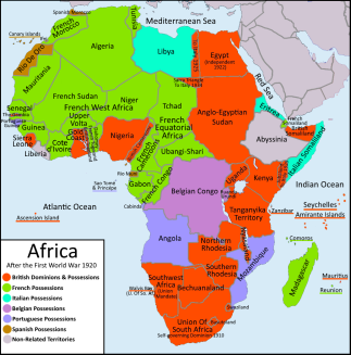 Africa British and French empires