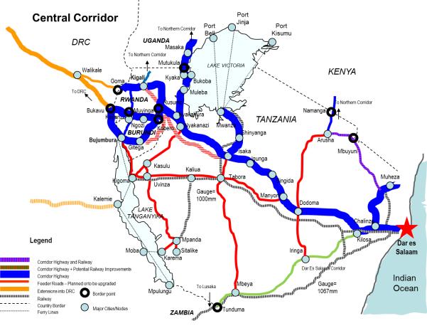 Central corridor Africa
