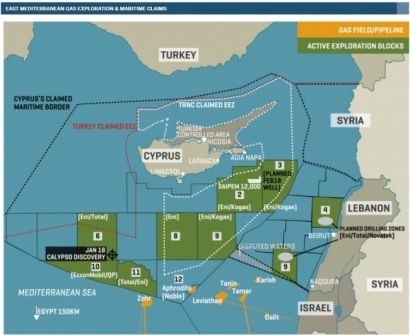 Blocks pipeline mediterranean sea